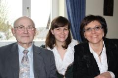 Mit Mama Martina Becker-Weber und Opa Rudolf Weinland