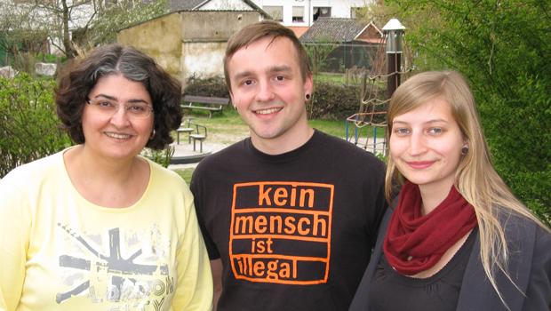 Ortsrat Breitfurt: Handan Güdem. (r. Chistopher Kragl, Leonore Dauber)