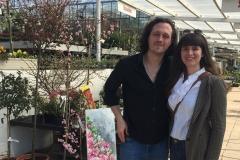 """Auf der Veranstaltung des Blieskasteler Kulturstammtisches """"Kunst im Treibhaus"""" bei Blumen Zeller in Niederwürzbach"""