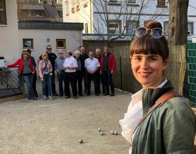 Einweihung des neuen Boule-Platzes in Alschbach