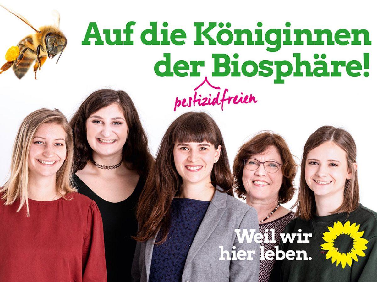 Auf die Königinnen der Biosphäre